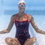 Nabaiji Fato de Banho Natação Jade Azul 44