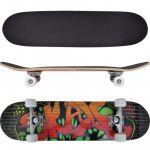 Skate Oval 9 Camadas de Bordo e Desenho Graffiti - 90558