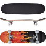 Skate Oval 9 Camadas de Bordo e Desenho Fogo