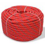 Corda Náutica em Polipropileno 12 mm 50 m Vermelho - 91292