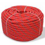 Corda Náutica em Polipropileno 8 mm 100 m Vermelho - 91290