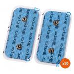 Compex Kit 10 Eléctrodos de 2 Snap 5x 10cm (Bolsa 2 Unidades)