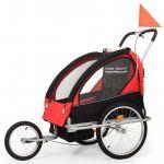 Atrelado Bicicleta/carrinho Infantil 2-em-1 Black e Vermelho - 91375