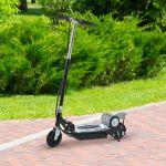 Trotinete Scooter Eléctrico Tipo com Guiador Ajustável Cor Preto 81.5x37x96cm