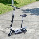 Trotinete Scooter Elétrica Dobrável com Guiador e Assento Ajustáve Preto