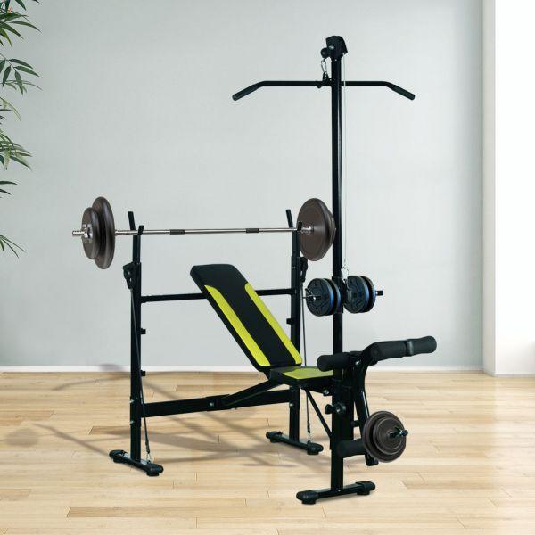 HomCom Banco de Musculação Aço - A91-034