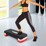 HomCom Step Fitness Plástico Black Red -A90-076RD
