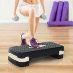 HomCom Step para Desporto com Altura Regulável - A90-076BK