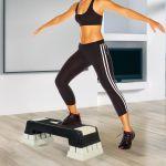 HomCom Step Fitness Plástico Black Grey - A90-078