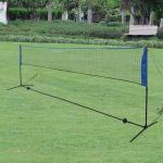 Conjunto Rede de Badminton com Volantes 500 X 155 cm - 91308