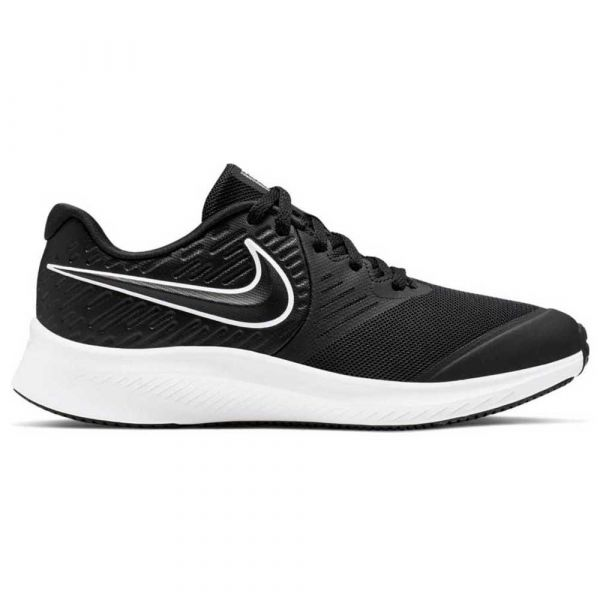 Nike Running Junior Star Runner 2 Gs Black / White / Black / Volt - AQ3542-001-6.5Y
