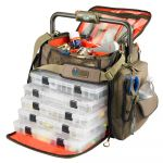 Wild River Frontier Lighted Bar Handle Tackle Bag w/5 PT3700 Trays - WT3702