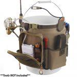 Wild River Rigger 5 Gallon Bucket Organizer W/light, Plier Holder & Retractable Lanyard - WL3506
