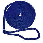 "New England Ropes Corda 1/2"" X 25' Nylon Double Braid Dock Line Blue W/tracer - C5053-16-00025"