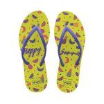 Dupé Chinelos para Mulher Happy Summer Joy Amarelo - 39-40