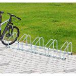 HomCom Suporte De Estacionamento 5 Bicicletas Aço 130 X 33 X 27 Cm