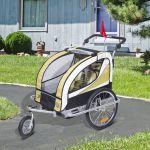 HomCom Atrelado Para Bicicleta De 2 Lugares