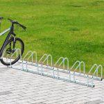 HomCom Suporte de Estacionamento para 6 Bicicletas Aço 160 x 33 x 27 cm