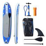 HomCom Prancha Paddle Insuflável c/Remo Ajustável e Bomba de 305x76x15cm
