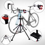 HomCom Kit Bicicleta com Suporte e Bandeja Tubo PP + Aço Q195 - 100x100x190 cm
