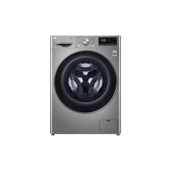 Máquina de Lavar Roupa LG F4WN408S2T Inox 8Kg 1400 rpmA+++