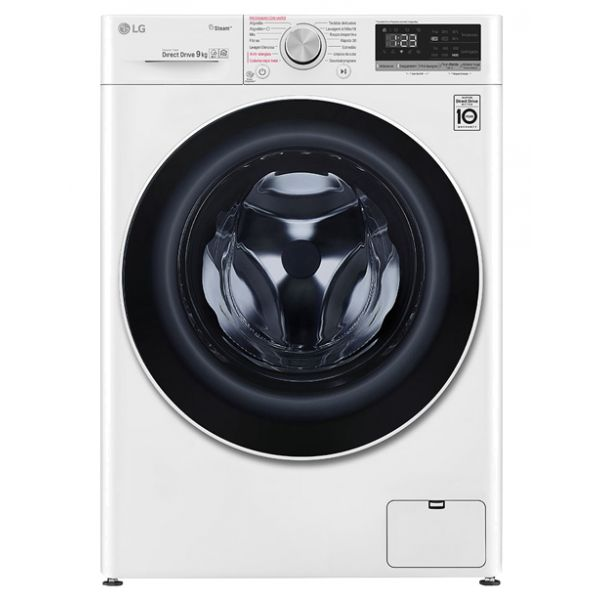 Máquina de Lavar Roupa LG F4WN409S0 White 9 kg 1400 RPM A+++