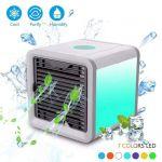 Mini Ar Condicionado Portátil 7 luzes Led