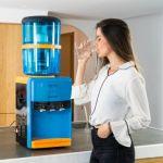 ECO-DE Máquina de Purificar Água com Filtro e transforma a Água em Quente e Fria