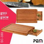 PEM Balança Cozinha Digital 5kg Tábua De Madeira Bambu 38cm - SC-380