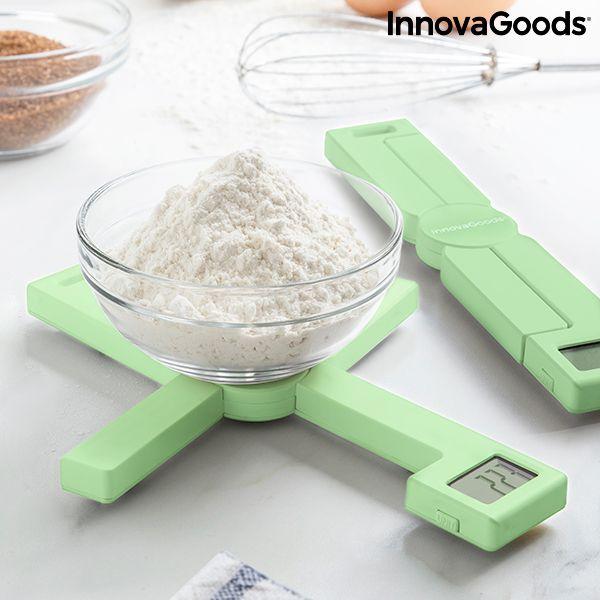 InnovaGoods Balança de Cozinha Digital Dobrável 5Kg Green - IG000278