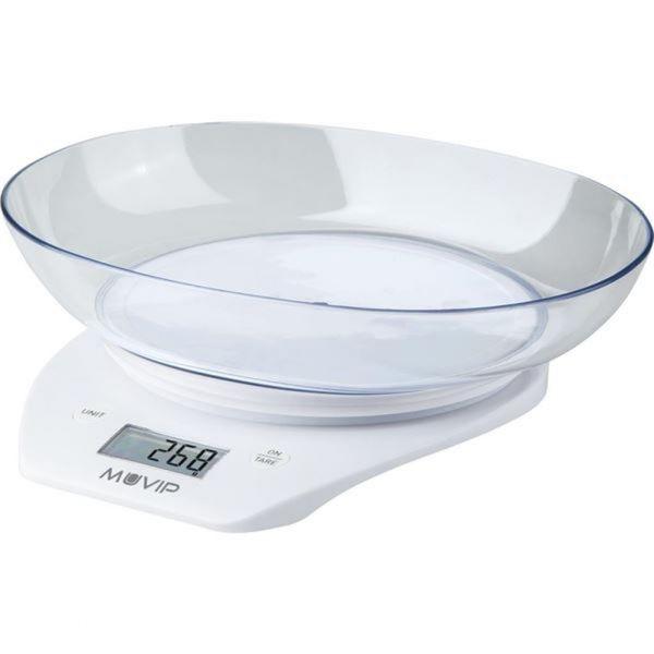 Muvip Balança de Cozinha Digital c/ Tigela de Graduação MV0255 white