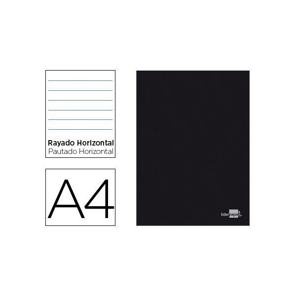 liderpapel caderno a4 capa preta pautado 80 fls la13 kuantokusta
