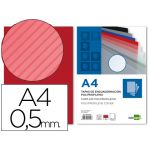 LiderPapel 100 un. Capas PP A4 0,5mm Raiado Red - TE19