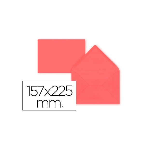 LiderPapel 9 un. Envelopes C5-EA5 157x225mm 80g Pink - SO74