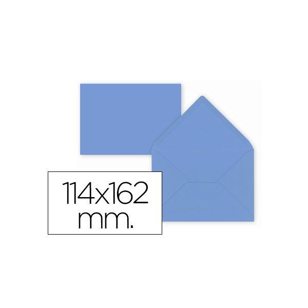 LiderPapel 15 un. Envelopes C6 114x162mm 80g Blue - SO55
