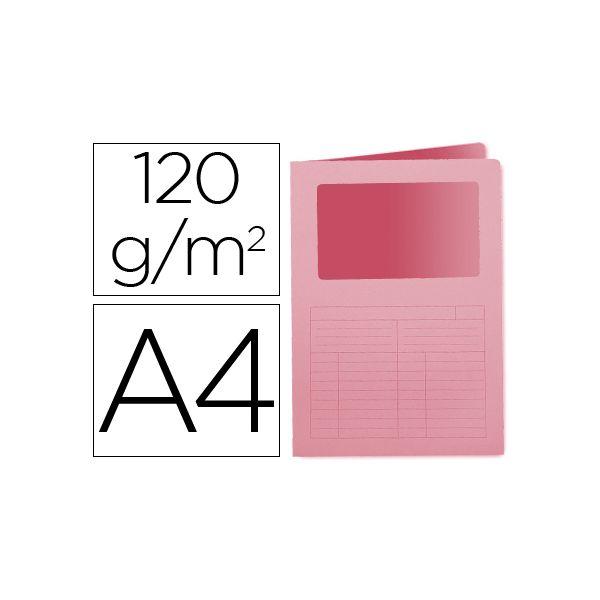 Q-Connect Classificador Cartolina A4 c/ Janela Pink - KF15245