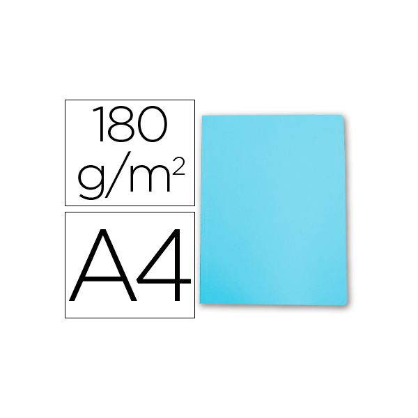 Gio Classificador Cartolina Din A4 180g/m2 Pastel Blue - 400018691
