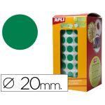 Apli Rolo Etiquetas Adesivas Circulares 20mm Green - 4862