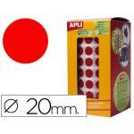 Apli Rolo Etiquetas Adesivas Circulares 20mm Red - 4861