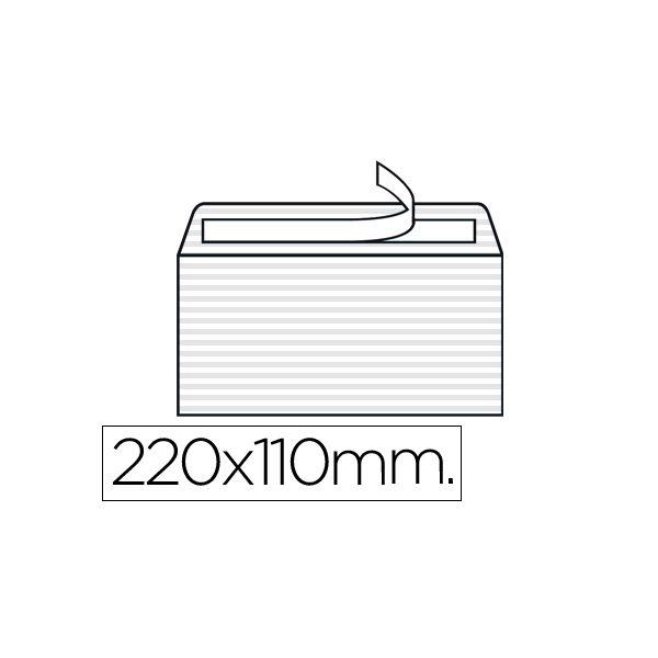 LiderPapel Envelope Verjurado 110x220mm White - SO43