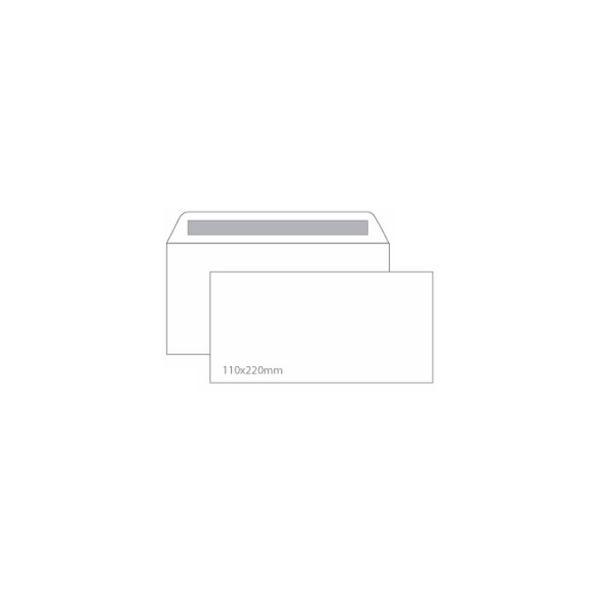 500 un. Envelopes DL Silicone 110x22mm 90g