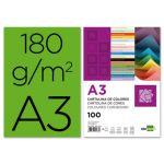 LiderPapel 100 un. Fls Cartolina A3 180g/mì Verde - CD06