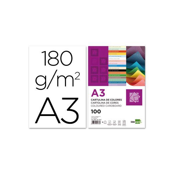 LiderPapel 100 un. Fls Cartolina A3 180g/mì Branco - CD01