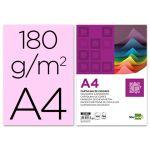 LiderPapel 100 un. Fls Cartolina A4 180g/mì Rosa - CT13