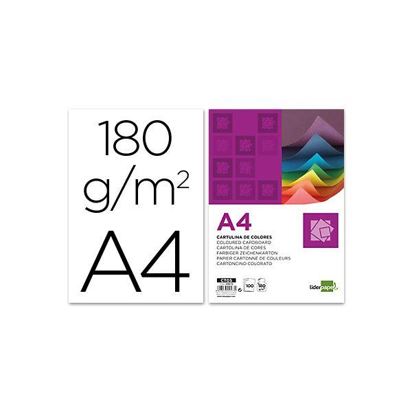 LiderPapel Resma 100Fls de Cartolina A4 180g Branco - CT01