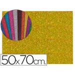 Folhas E.V.A. c/ Purpurina 50x70cm m2 2mm Dourado - 100OR