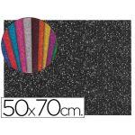 LiderPapel Folha E.V.A. Musgami c/ Purpurina 50x70cm m2 2mm Preto - GE72