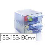 Archivo 2000 Organizador Modular 2 Gavetas Plástico Clear Blue - 6702 AZ TP