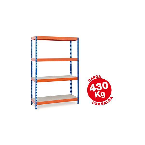 Ar Storage Estante Metálica 200x100x60cm 4 Prateleiras 430kg - STABIL 100/60