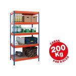 Ar Storage Estante Metálica 180x90x40cm 5 Prateleiras 200kg - STABIL 90/45